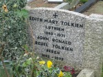 Headstone for J.R.R. and Edith Tolkien. Beren and Luthien.