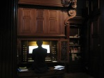 Pembroke College Chapel, Oxford.  Organist practicing.