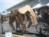 May 17, 2014. Kinetic Cardboard Elephant.