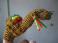 The LLAMA llama finger puppet. Because we're whimsical like that.